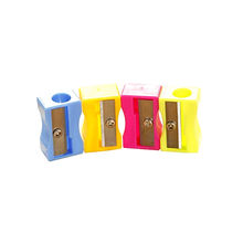 Candy-colored mini plastic pencil sharpener simple and practical small gifts for children
