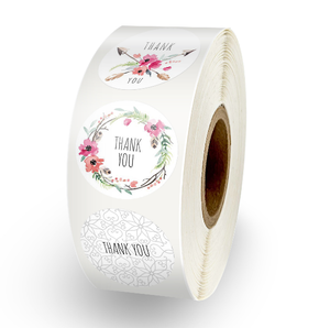 Custom Label With Love Wedding Stickers Low Price Adhesive Sticker Round Blank White Labels Thank You Supplies Sealing Stickers