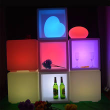 PE Plastic LED ice bucket luminous long rectangle buckets light color changing champagne beer red wine cooler ice pail