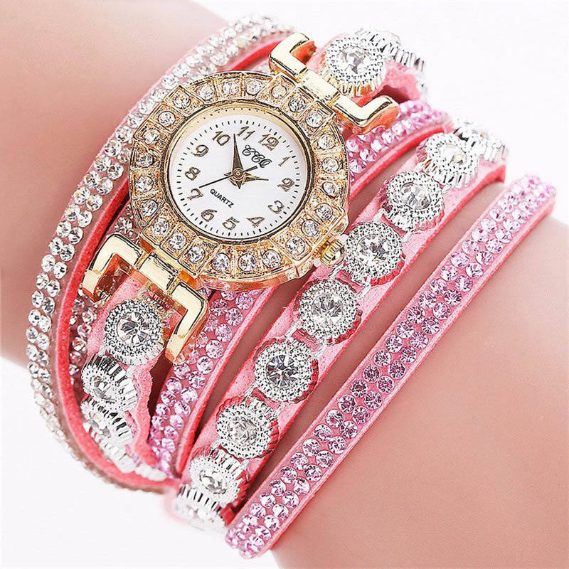 WJ-6695 China Charming Dress Diamonds Watch Hot Sale Wholesale Wristwatch Bracelet Quartz Watch For Women