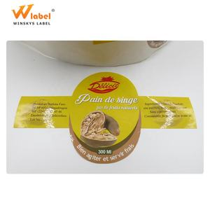 high quality custom adhesive round paper logo jar labels bottle lid cap seal sticker printing