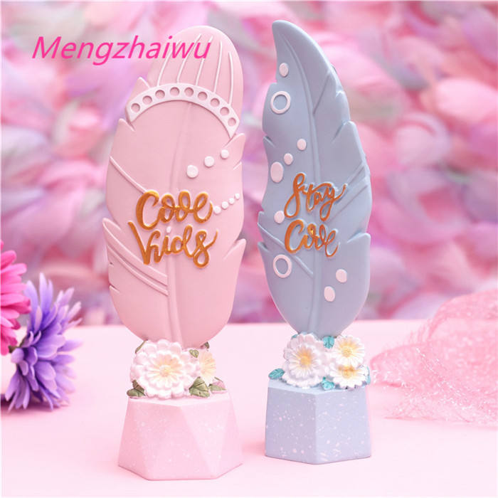 Italy new fashion home office accessories 2020 girls promotional gift items Wing series creative dream room christmas ornaments