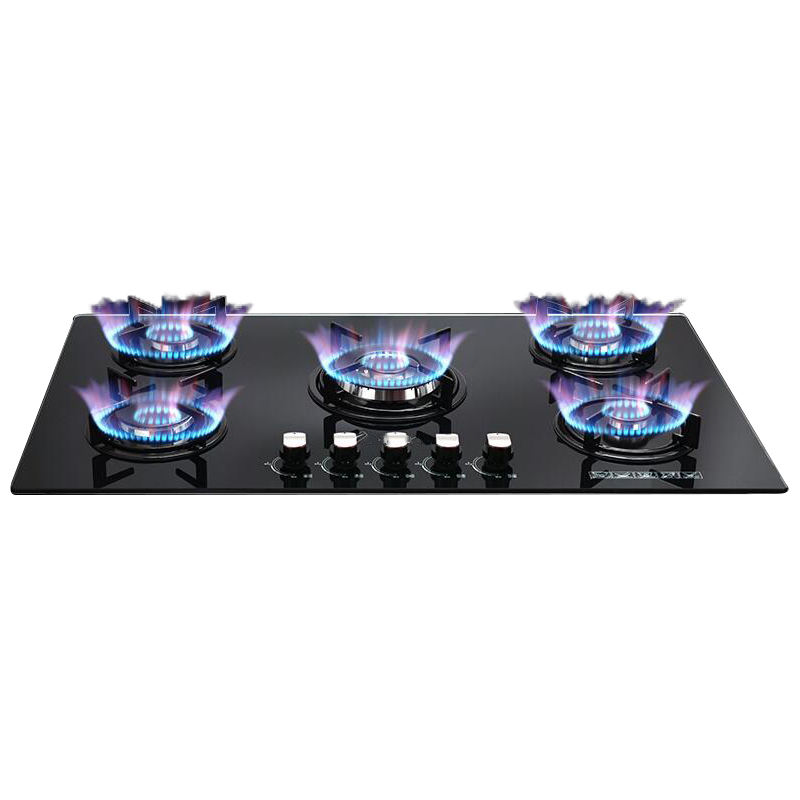 Kitchen appliance tempered glass cooking burner built in induction hob gas stove price with 4 burner