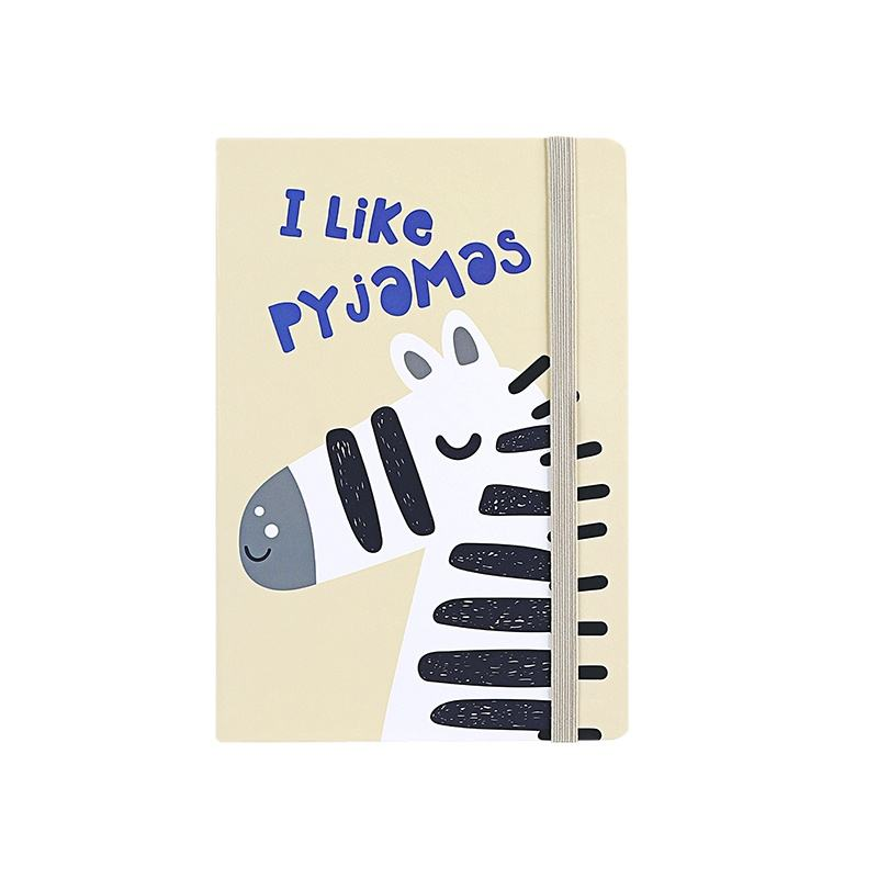 hot sale animal cartoon colorful custom notepad with elastic school student diary notebook 2021