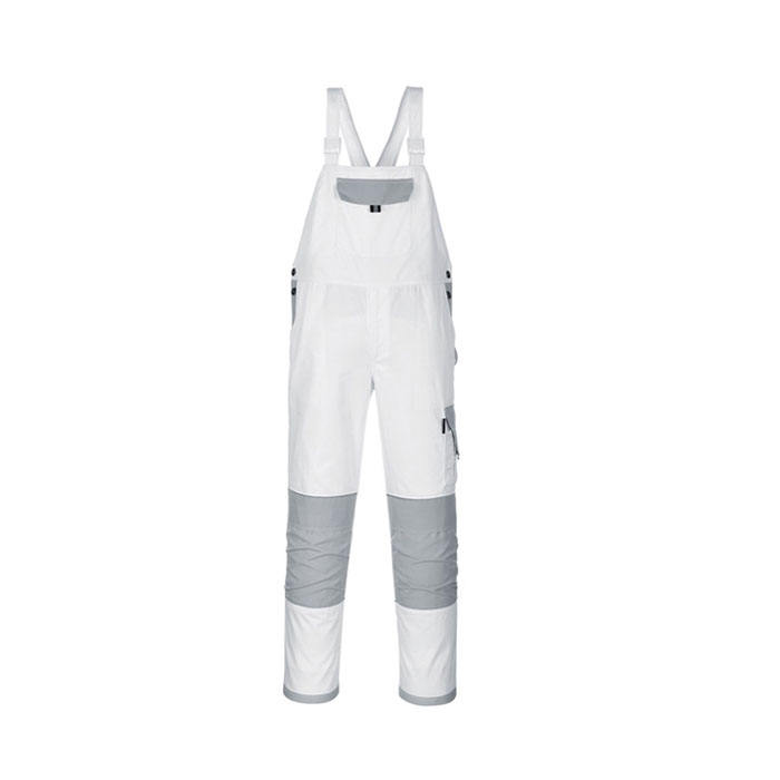 Cotton Painters White Bib Overalls For Men
