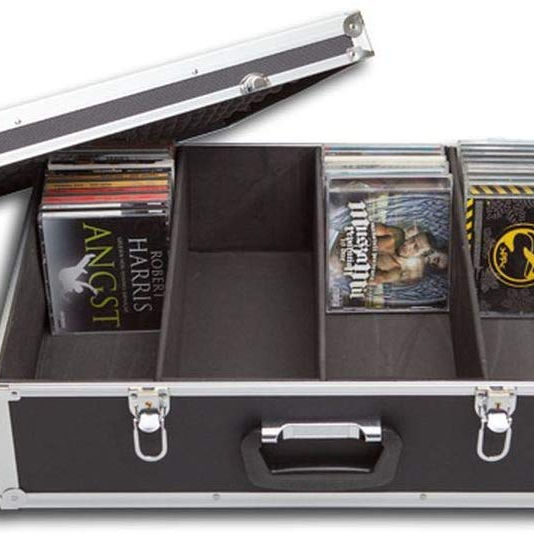 Discs CD DVD Storage Case Organizer Aluminium Carry Box Black
