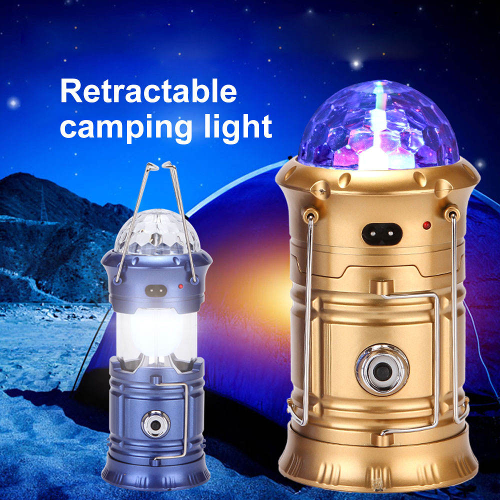 Rechargeable Portable Outdoor Solar LED Camping Lantern Flashlights Emergency Lamp Light