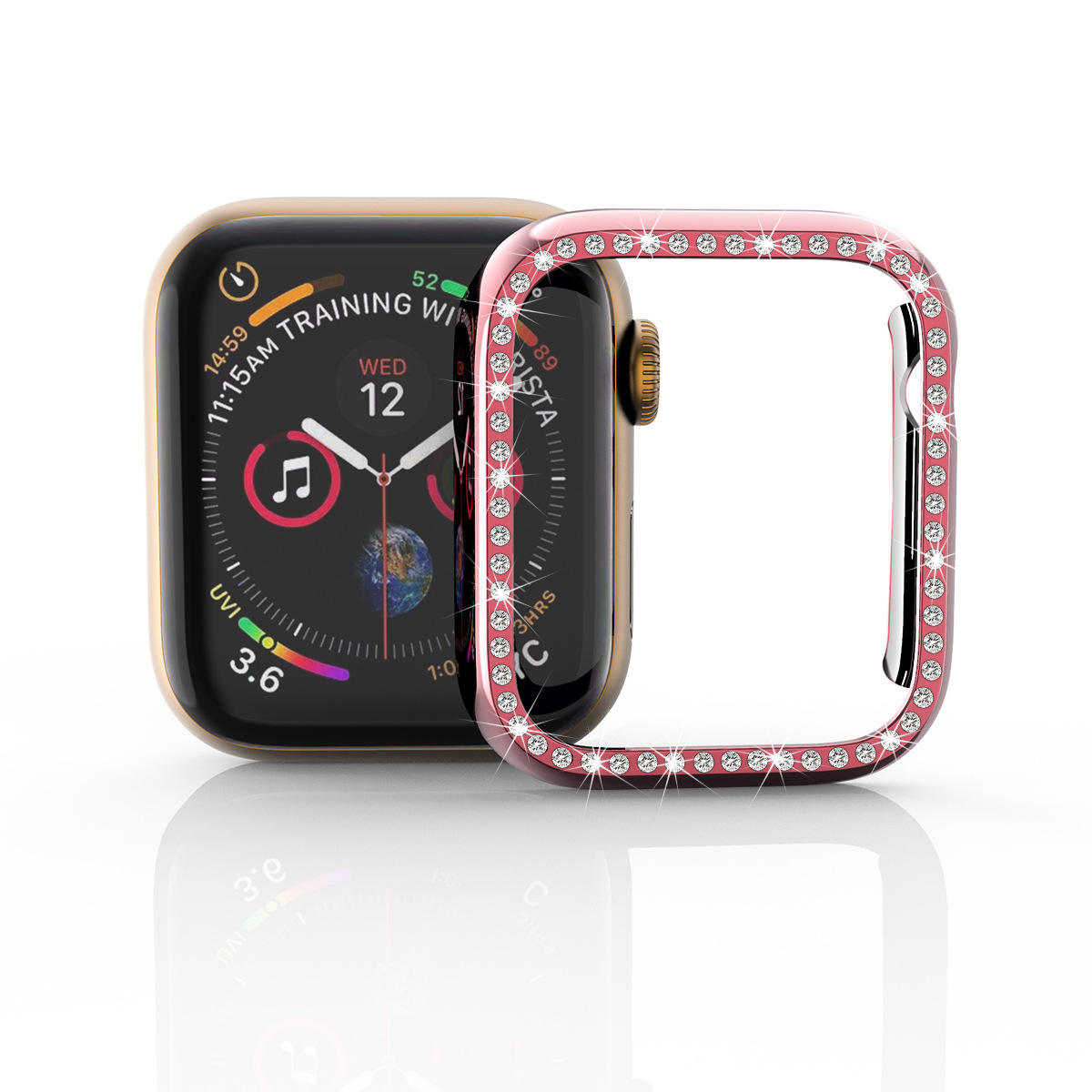 Best Selling on USA Amazon Diamond Waterproof for Apple Watch Protector Case 44mm 42mm 40mm 38mm