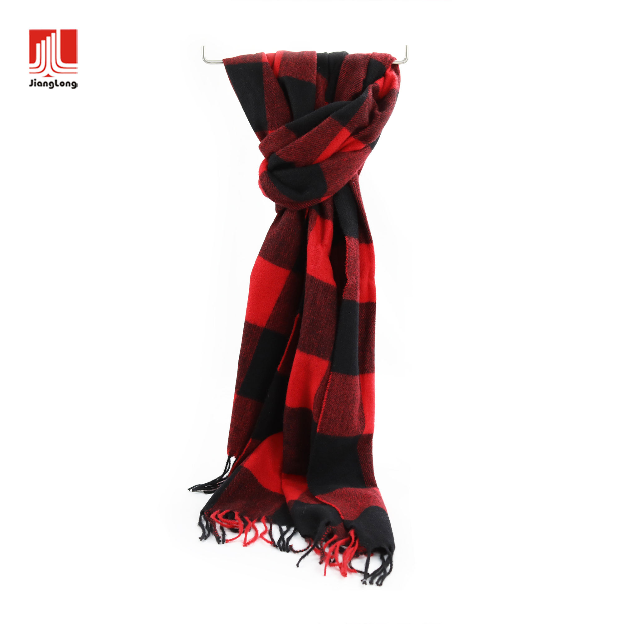 Winter warm buffalo plaid designer scarf styles classic check plaids woven shawl scarf super soft scupuncture brushed pashmina