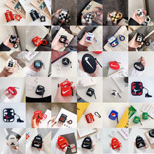 For AirPods Case 3D Fashion Trunk Design Earphone Cases For Apple Airpod 1 2 Protect Cover Accessories with Finger Ring Strap