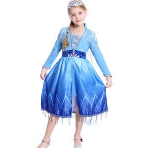 2019 Frozen 2 Elsa Inspired Dress Birthday Party Dress Elsa Fancy Dress Elsa Cosplay Costume