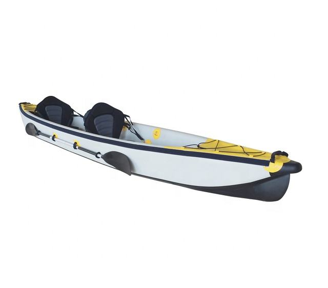 OEM/ODM Customized Color & Size 2 People Inflatable Fishing Canoe With Standard Accessories