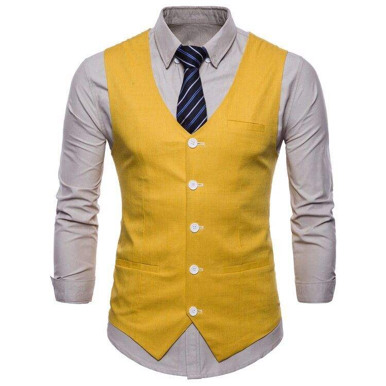 Latest Classic British Fashion Mens Wool Check Vintage Style Waistcoat