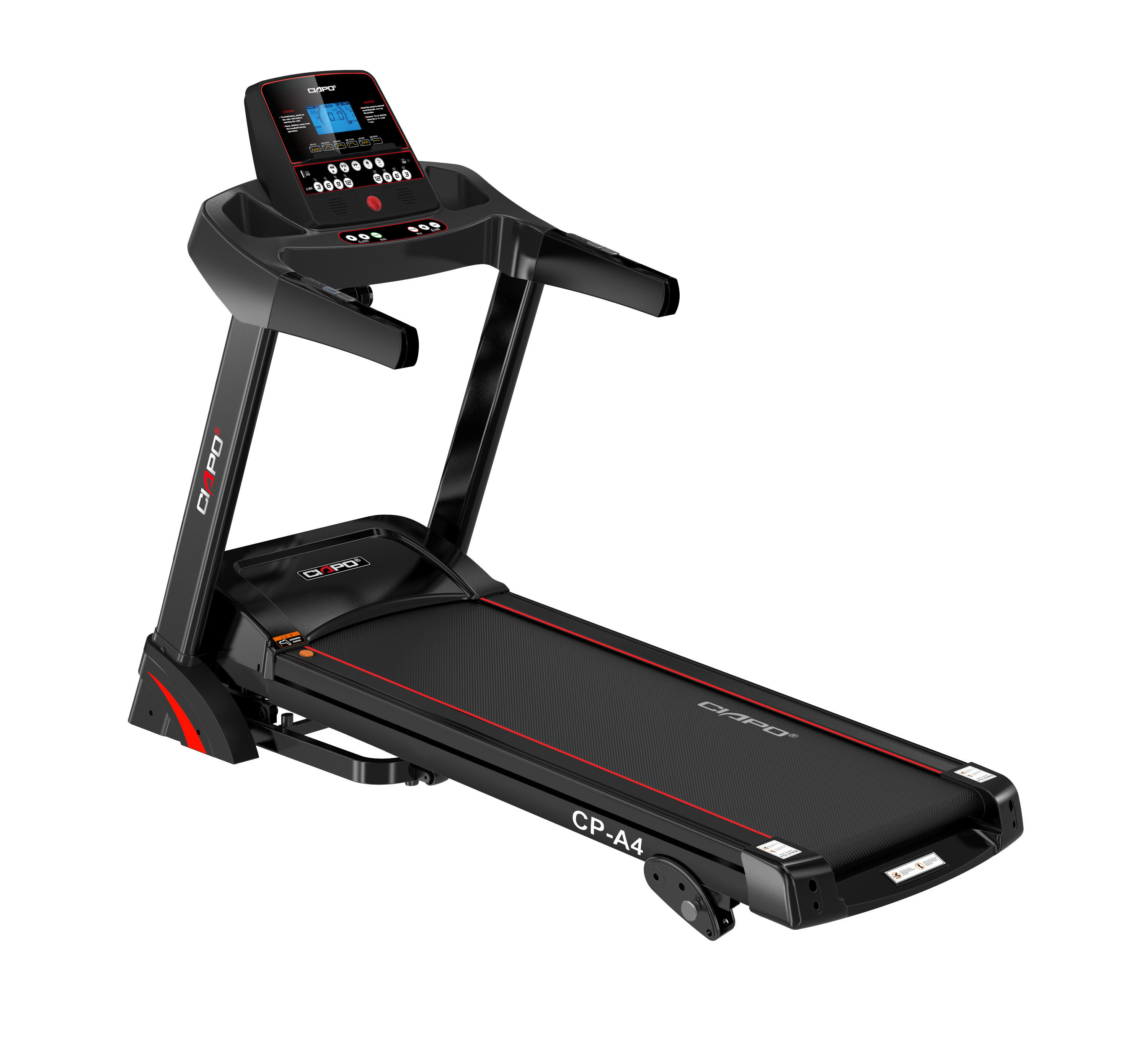 Ciapo best seller AC motor treadmill CP-A4 blue screen with CB, EMC, CE certification for professional body fitness exercise