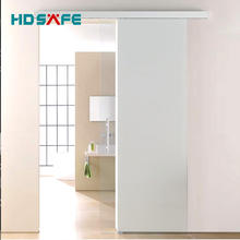 New design indoor soft closing frameless  glass sliding door set
