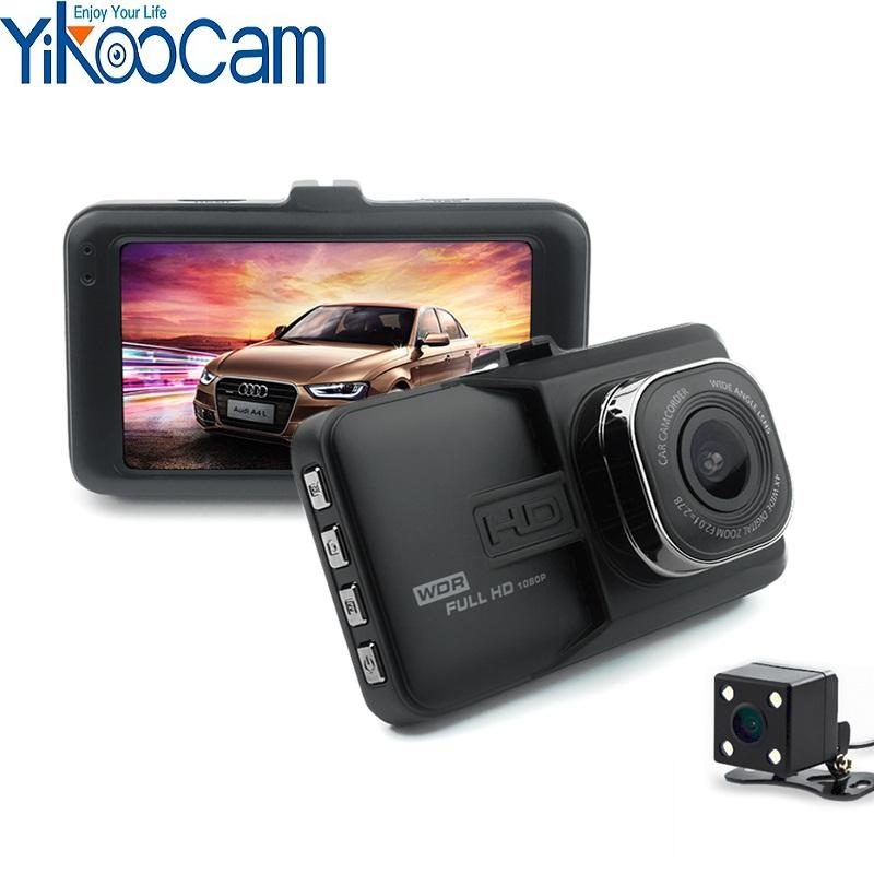 Yikoo OEM Dash Cam 3 inch Screen Plastic Dual cams Car Video Recorder 140 Degree Wide -angle Car Camera