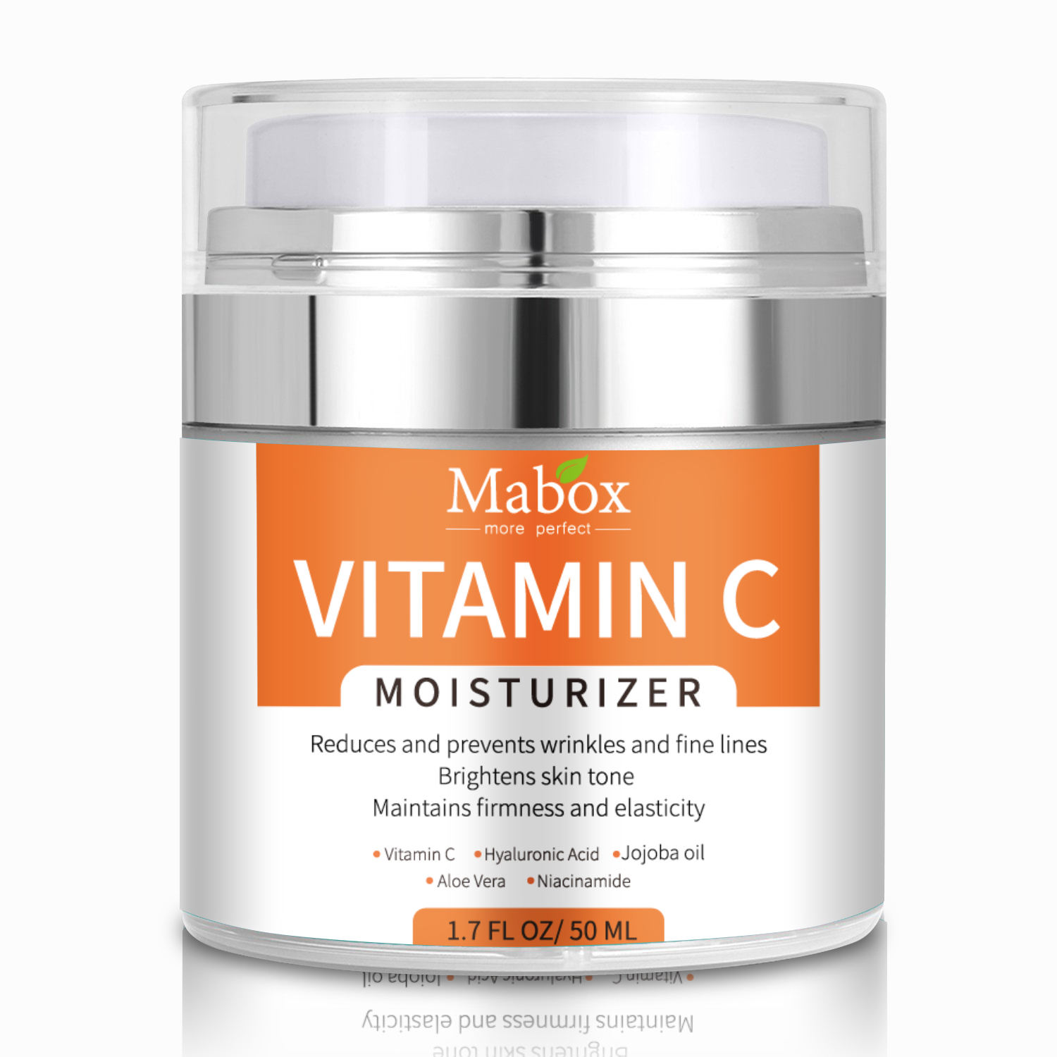 Mabox Private Label Face Skin Whitening Glowing Moisturizer Vitamin C Cream