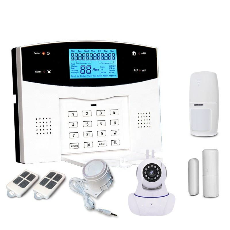 Hot Sell WiFi+GSM+PSTN for Home Security Intelligent Alarm System With APP Control With IP Camera