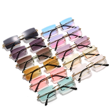 Finewell Hot Sale Street Beat Sunglasses 2020 Women shades Fashion Rimless Square Sun Glasses