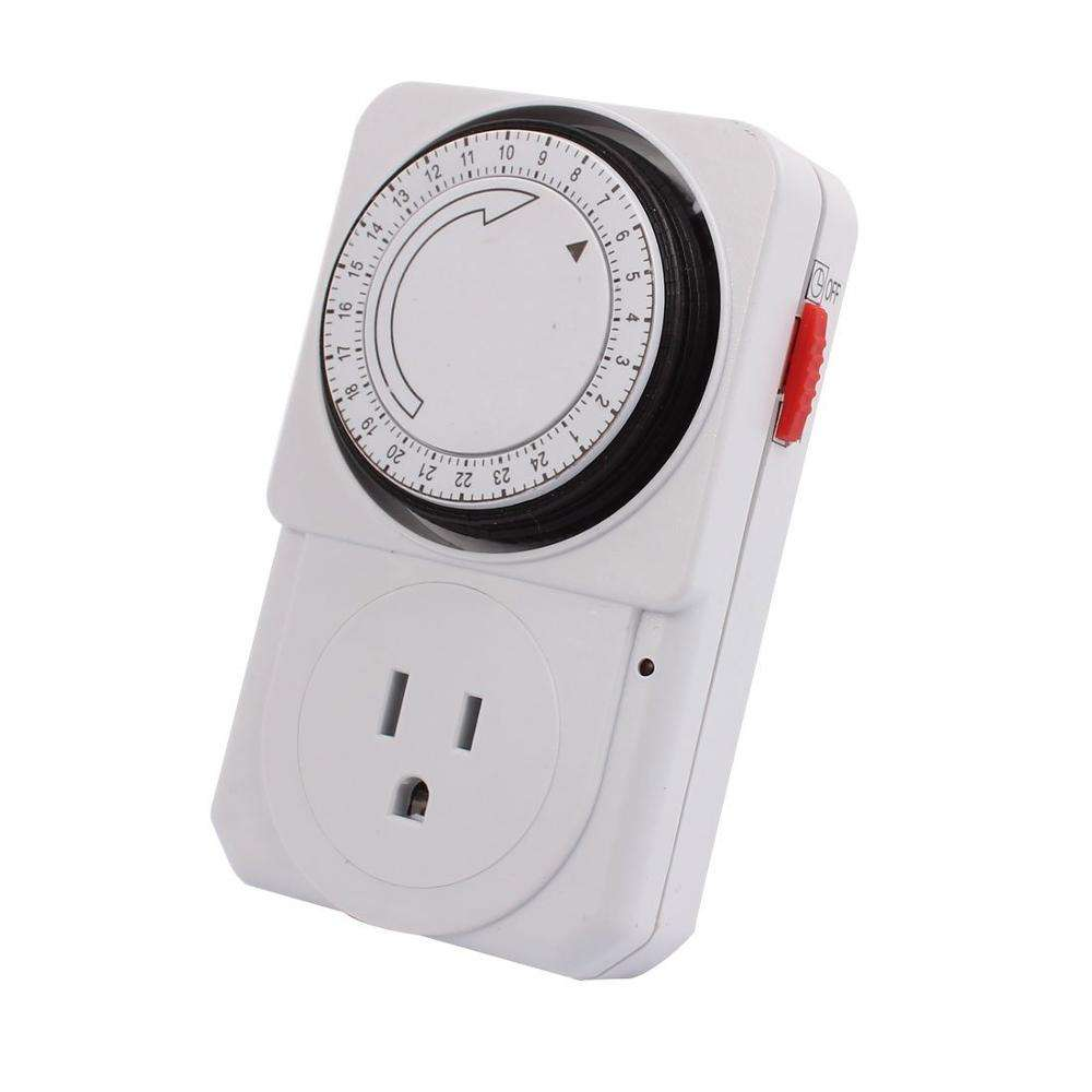 Indoor Mini 3-Prong 24-Hour Mechanical Outlet Timer