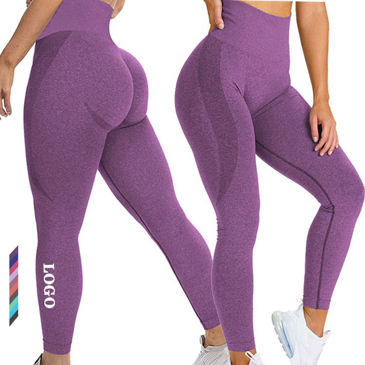 Wholesale high quality butt lift leggings new style high waisted workout yoga seamless leggings