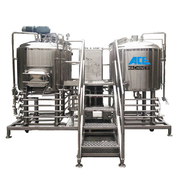 Factory Price 200l 500l 1000l 1500l Micro Beer Two Vessel Brewhouse System Equipment