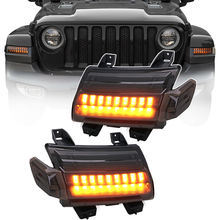 Double track running water DRL for jeep JL