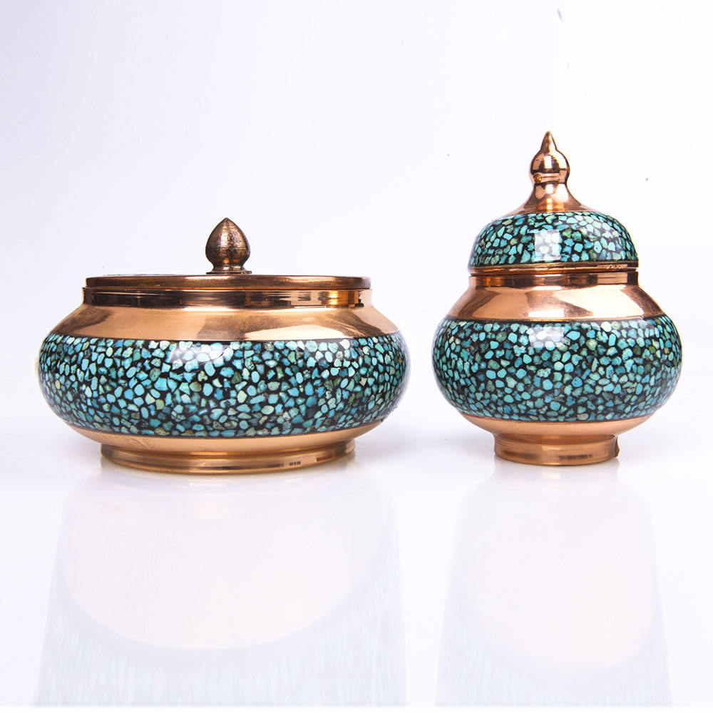 Chinese factory directly sale natural turquoise handmade modern Incense Burner for decor