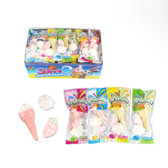 3 In 1 Cone Shape Mixed Set Marshmallow Cotton Candy