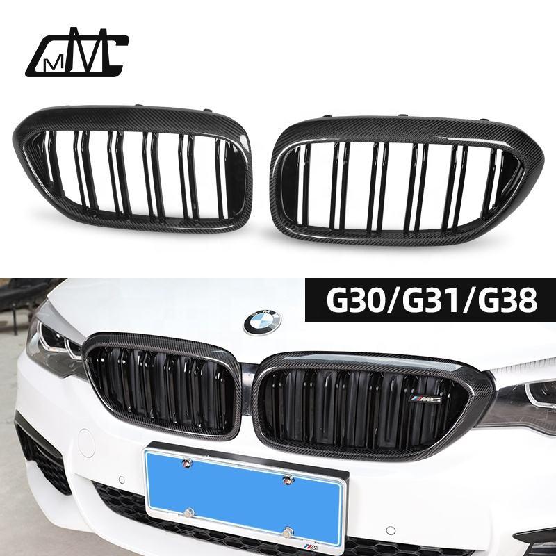 Grilled Avant de voiture Grill Carbon Black for BMW S/érie 3 F30 F31 318i 320i 328i 2012 2013 2014 2015 2016 2017 2018