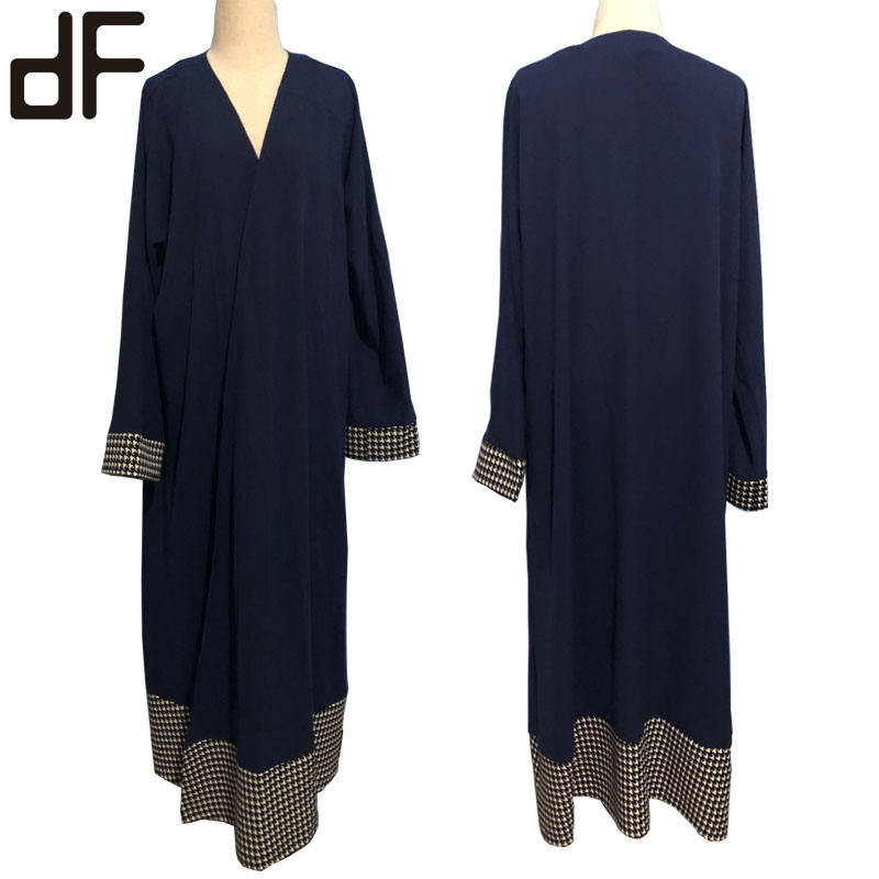 wholesale muslim women dress oman jubba arabic abaya burqa thobe for islamic clothing long sleeve front open style abaya