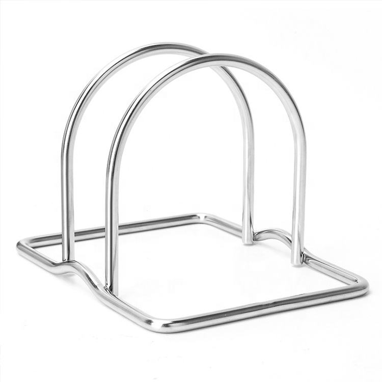 2019 hot sale metal kitchen dishes storage rack chopping board holder
