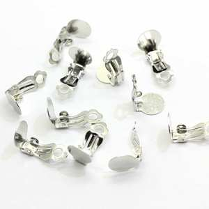 1000pcs Wholesale Newest Design Girls Women Ear Clips Silver Iron Earring Makings Accessories Simple Clips