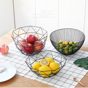 Hot selling Wire Storage Baskets Multifunction 26X26CM Metal Iron Fruit Basket