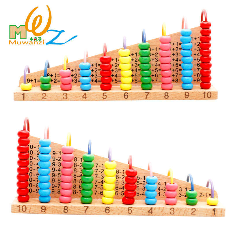 2019 New Bead Frame Baby Wooden Abacus Preschool Counting Calculator Educational Toys For Children