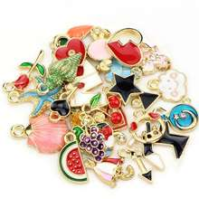 30pcs Mixed Designs Starfish Flower Heart Enamel Wholesale Charms for jewelry making