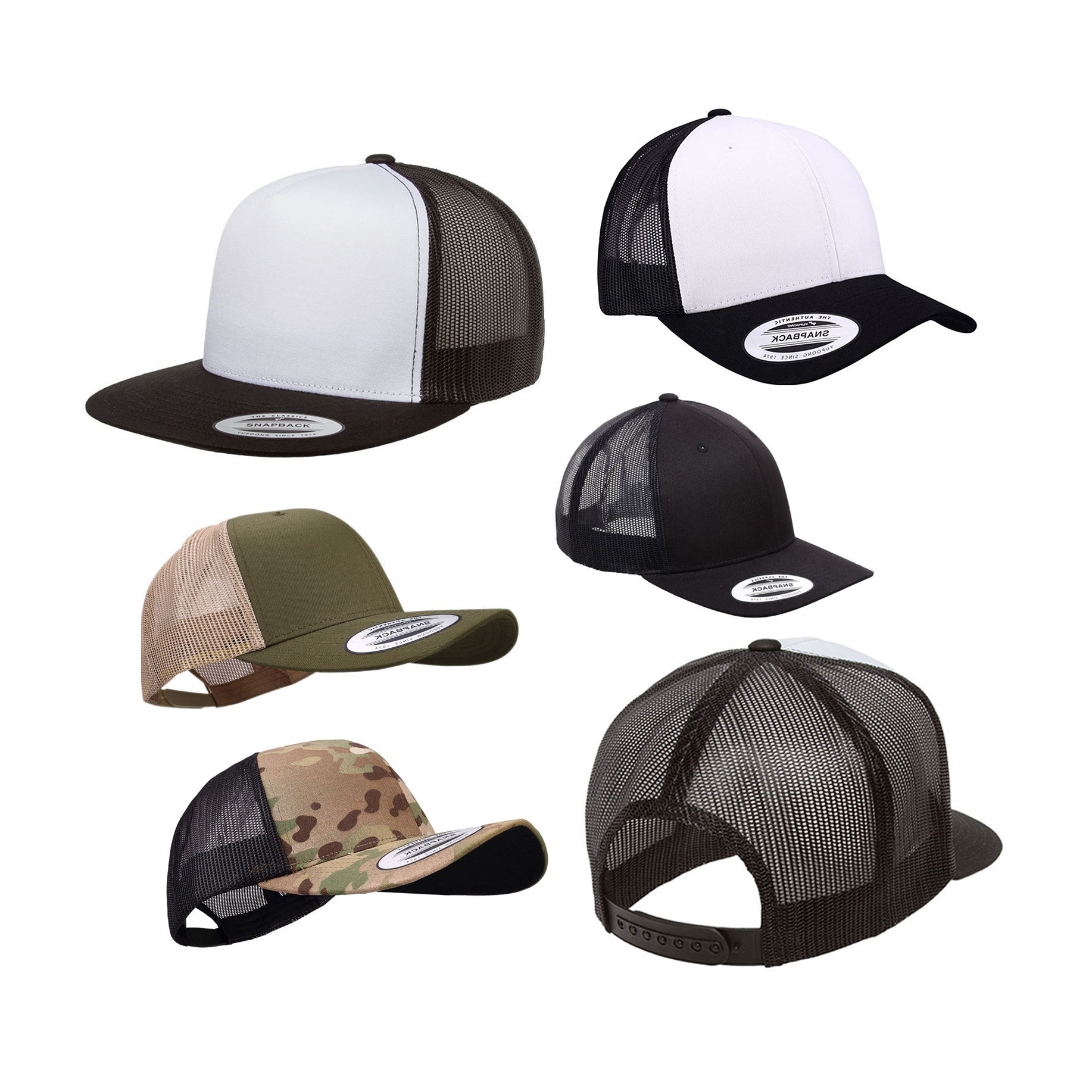 Outdoor Sports Custom Your Own Logo Blank Plain Classic Yupoong Style Mesh Trucker Cap Hat