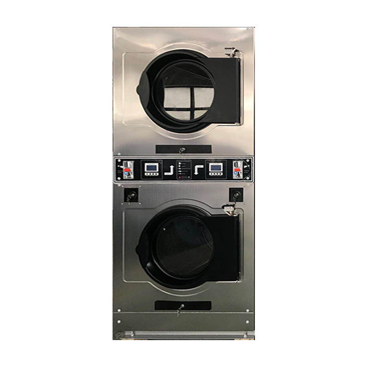 The school hospital commercial full-automatic double-layer washing machines automatic coin-operated dryer