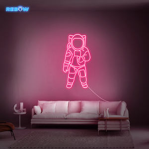 Rebow 45CM Free Shipping Home Party Bar Advertising LED Neon Light Sign Custom Silicone Astronaut Neon Sign Light