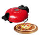 Stone baked pizza maker with view widow on the top