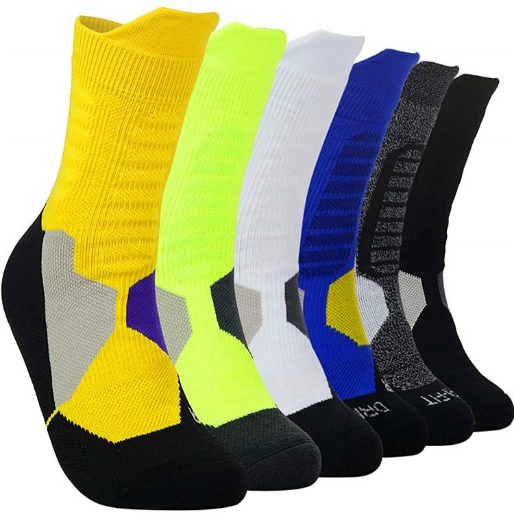 Wholesale colorful custom logo elite crew basketball socks