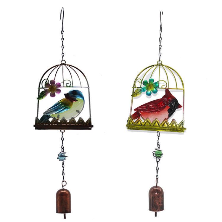 European-style Garden Decoration Birdcage Bird Chime Iron Bell Ornaments Rural Balcony Home Decor