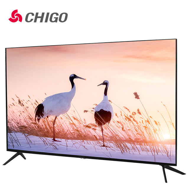 Led TV factory Wholesale Flat Screen TV slim Ultra-thin LED Television 4K Smart TV 32 43 50 55 65 75 inch Digital DVB-T2 S2