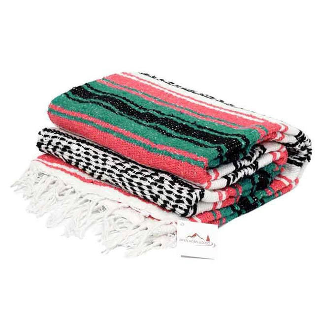 new 2019 soft cotton woven thick fringe throws yoga serape mexican falsa blankets in bulk for camping picnic beach bedding