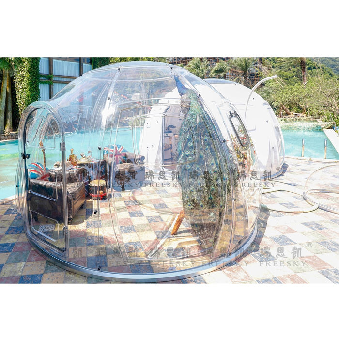 China manufacturer luxury safari tent glamping PC Clear house Bubble Tents