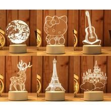 Led Gift USB Acrylic Creative Bedroom Bedside 3D Night Light
