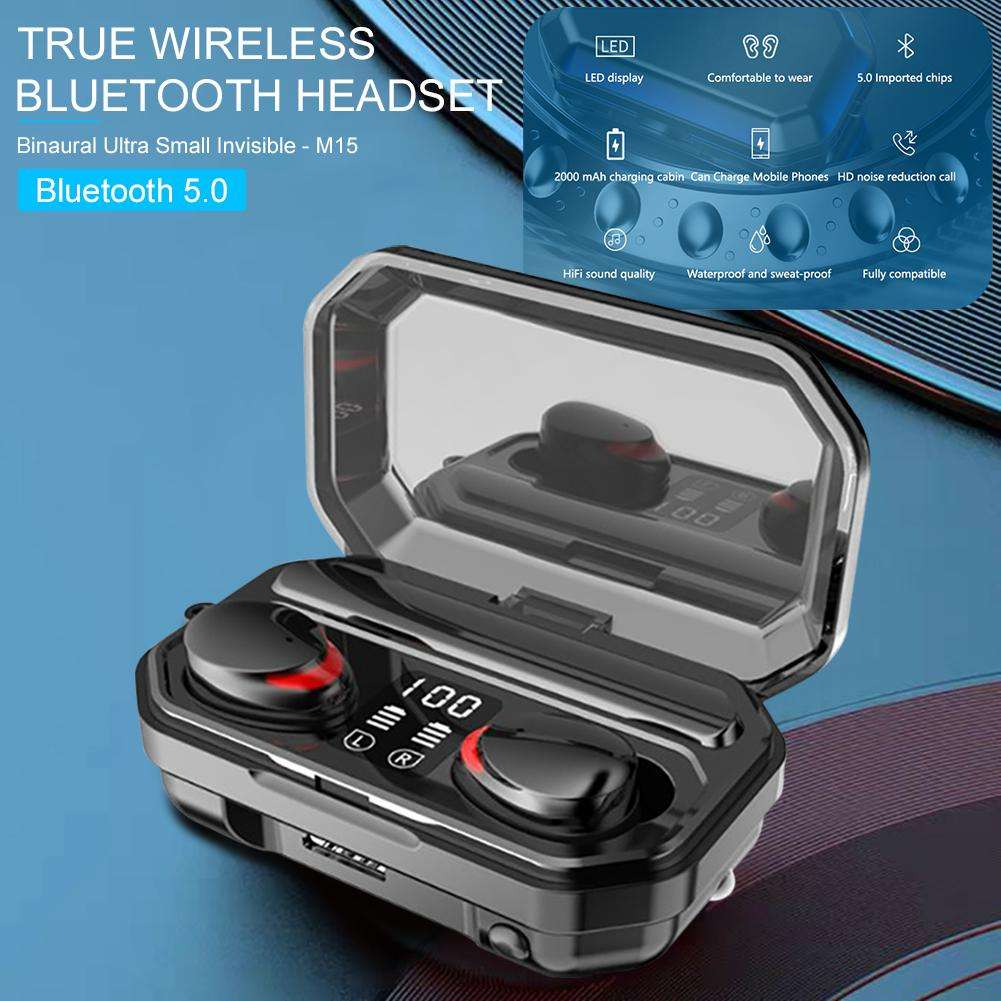 NEW Bluetooth Earphones Touch Control TWS Wireless Headphone IPX7 Waterproof Earbuds Men Women Sport Headset Earphone 2020