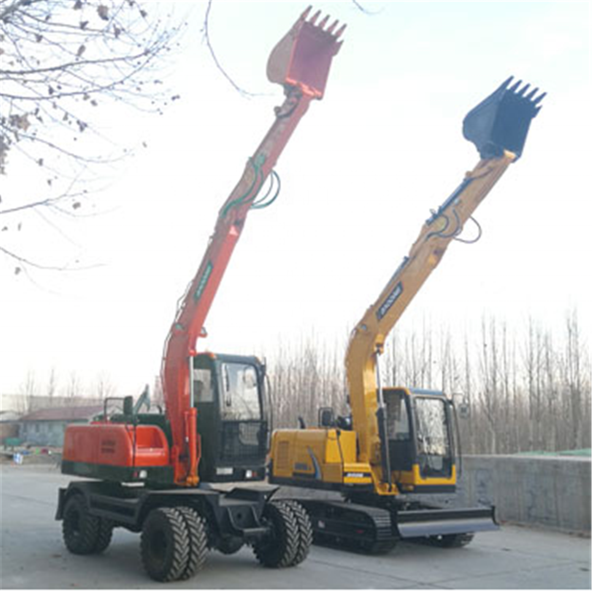 Imported hydraulic system wheel hydraulic excavator BD80W for sale
