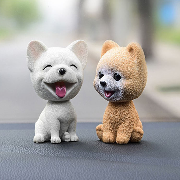 Wholesale car ornaments bobble head dog, car decorative bobble resin shaking dog/