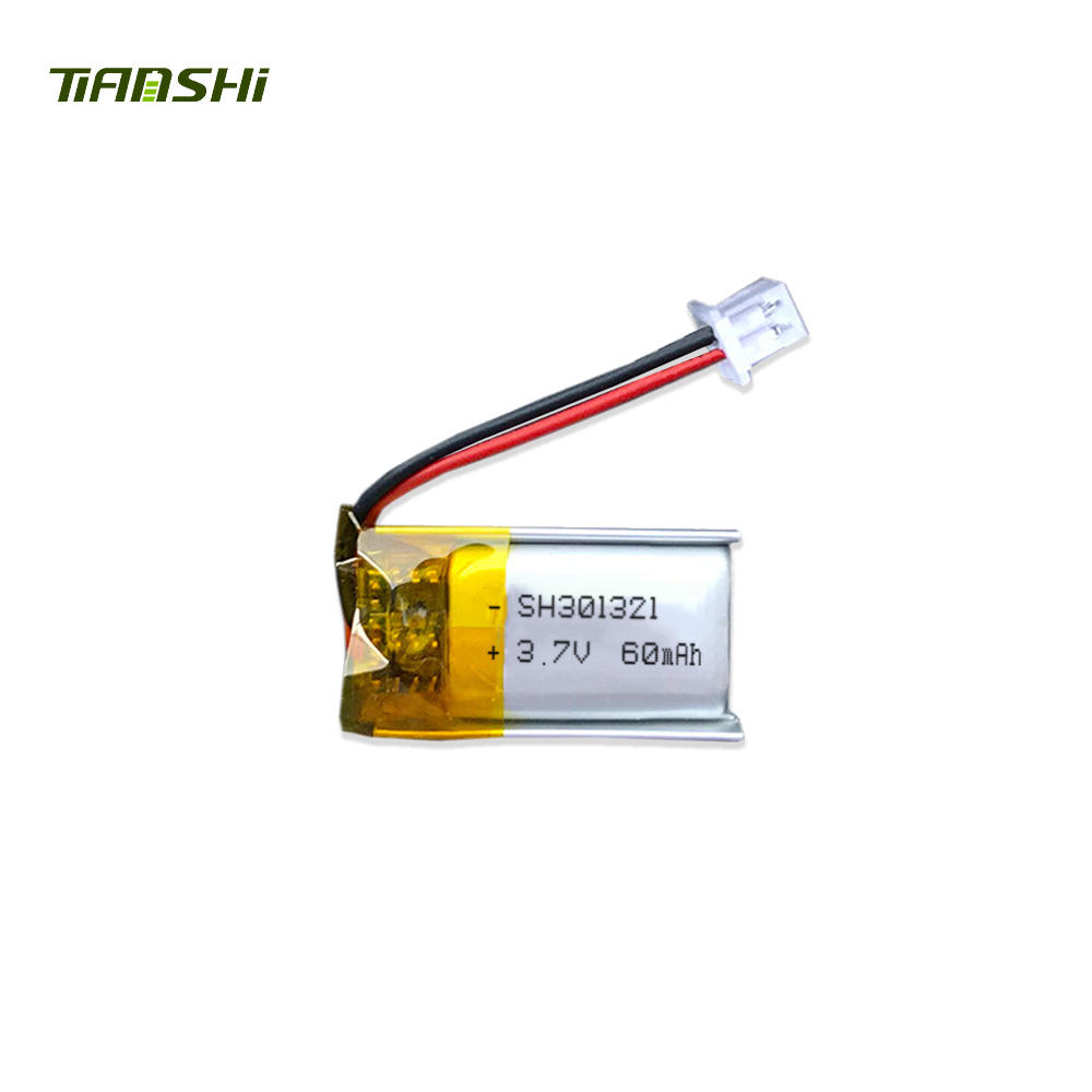 High quality 301321 60mAh lithium polymer battery for bracelet
